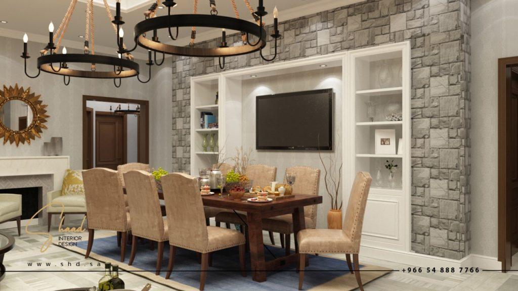 تصميم غرفة الطعام